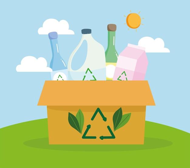 Recycling van kartonnen dozen
