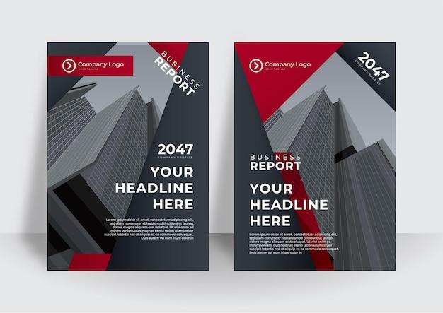 Red cover zakelijke brochure vector design, leaflet reclame abstracte achtergrond, moderne poster tijdschrift lay-out sjabloon, jaarverslag voor presentatie