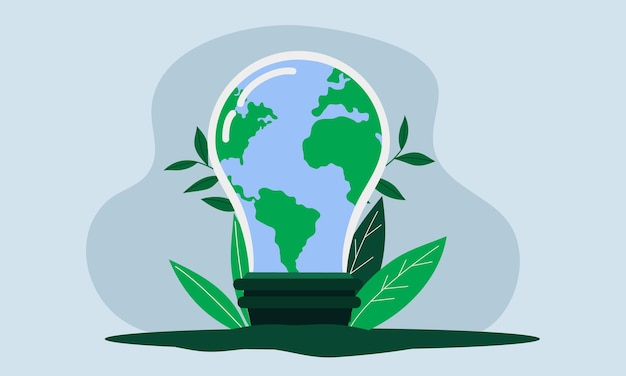 Red de aarde door energie te besparen
