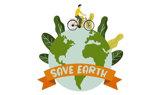 Red de aarde met een groene levensstijl