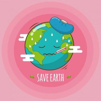 Red de aarde van het broeikaseffect