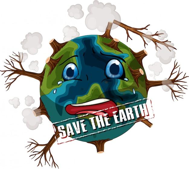 Red de illustratie van de aarde