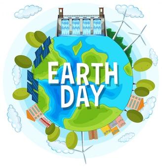 Red de planeet aarde dag