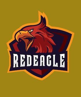 Red eagle e sports-logo