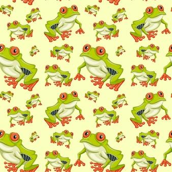 Red eyed tree frog naadloze patroon