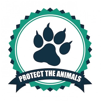 Red het ontwerp van de dieren