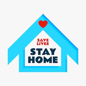 Red levens en blijf thuis posterontwerp