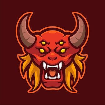 Red monster mascot e-sports logo character