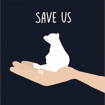 Red ons zeggend witte beer