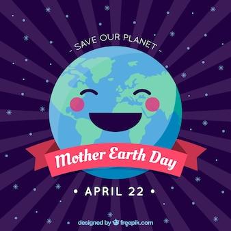 Red onze planeet achtergrond voor moeder aarde dag