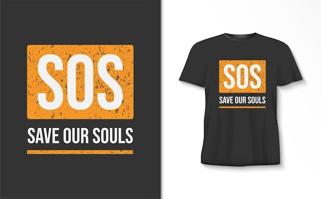 Red onze t-shirt van de zieltypografie