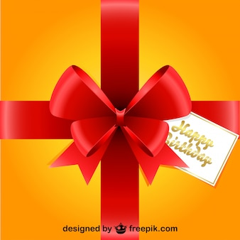 Red ribbon gift ontwerp