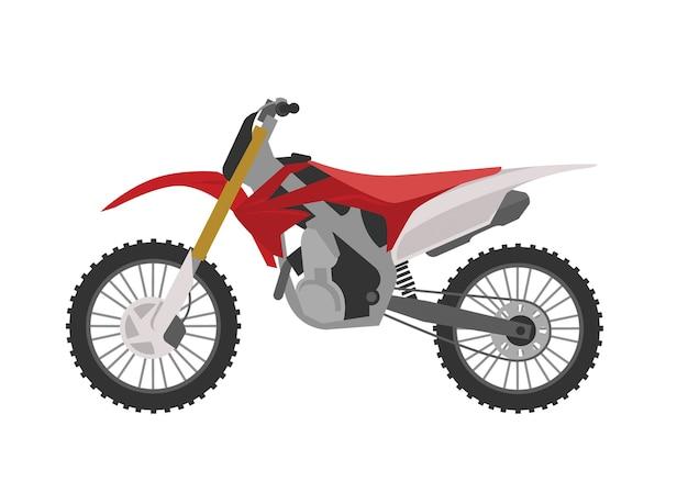 Red sport motocross motorbike