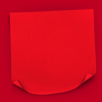 Red stick realistische papieren notitie