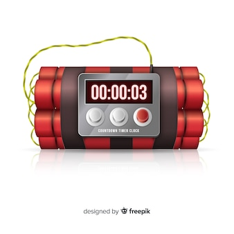 Red time bomb realistisch ontwerp