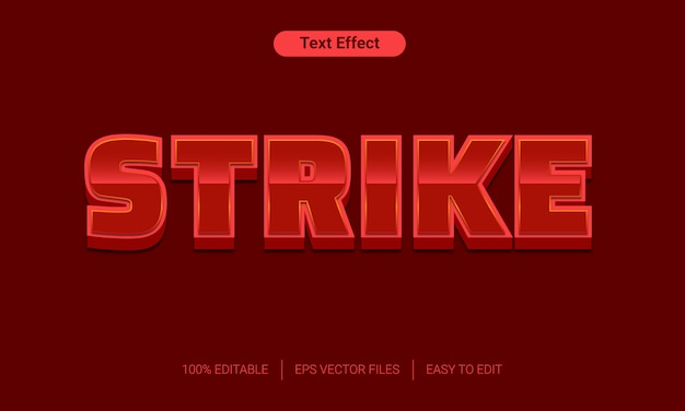 Red vet staking 3d-tekst stijl effect