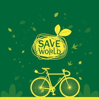 Red world save ecology concept
