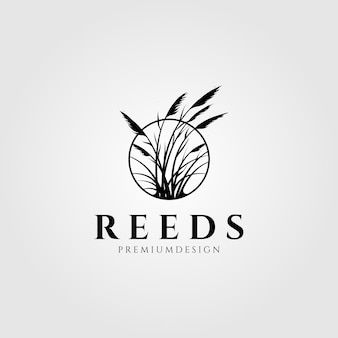 Reeds logo waterplant ontwerp
