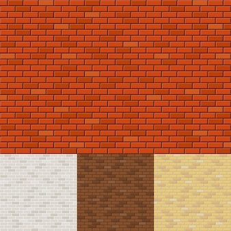Reeks bakstenen muurachtergronden. textuur oppervlak, blok ruw, metselwerk en steen.