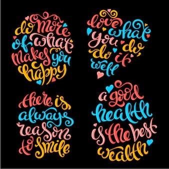 Reeks citaten met letters