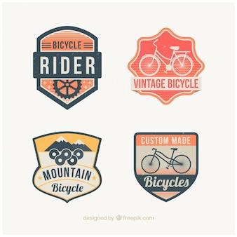 Reeks decoratieve fietsen badges