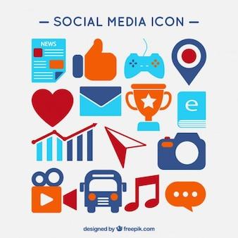 Reeks gekleurde social media iconen