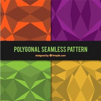 Reeks gekleurde veelhoekige patronen