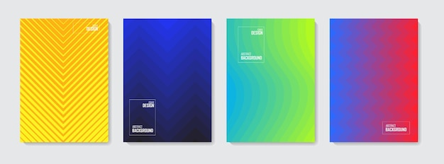 Reeks kleurrijke abstracte achtergronden