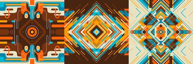 Reeks kleurrijke abstracte achtergronden.