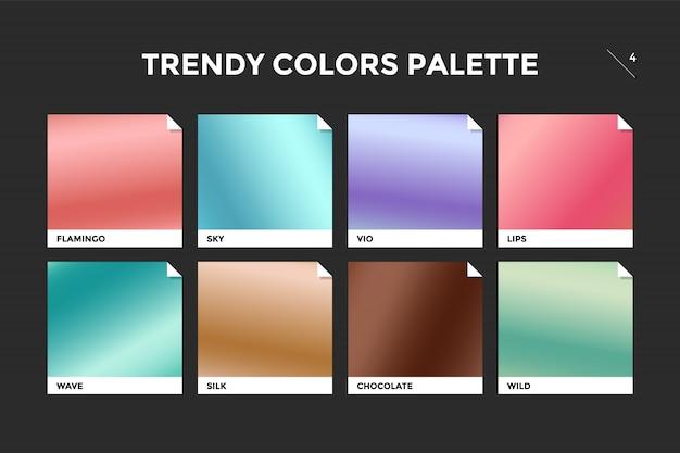 Reeks kleurrijke trendy gradiëntsjablonen