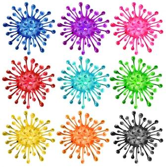 Reeks kleurrijke vormen