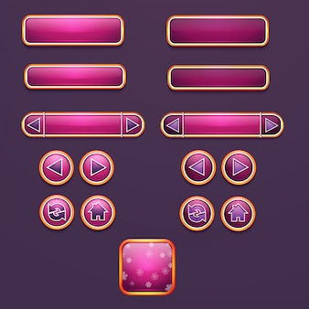 Reeks knoppen en pictogrammen voor ontwerp