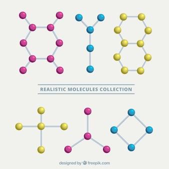 Reeks realistische moleculaire structuren