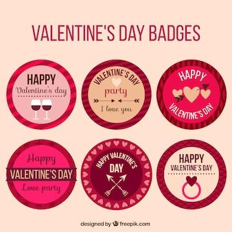Reeks ronde valentijn stickers