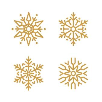 Reeks van het ontwerpvector van sneeuwvlokkenkerstmis