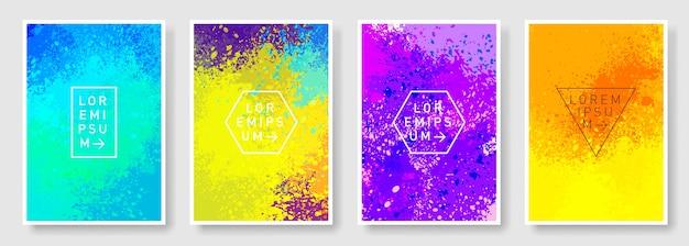 Reeks van kleurrijke abstracte moderne stijl als achtergrond