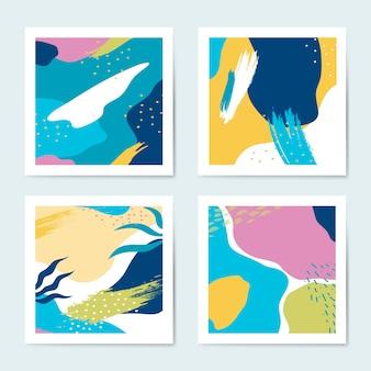 Reeks van kleurrijke de stijlachtergronden van memphis vector