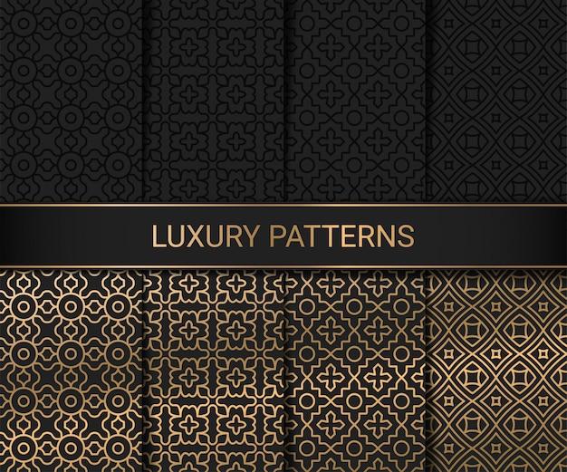 Reeks van kunstwerk van luxe het naadloze patronen, illustratie
