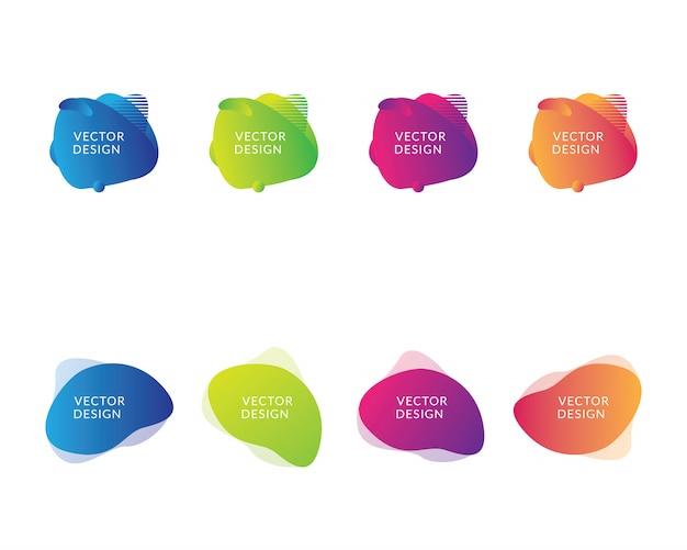 Reeks van vloeibare stroom kleurrijke illustratie