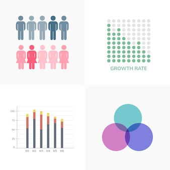 Reeks zakelijke infograph-vectoren