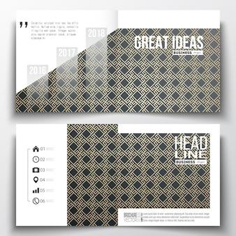 Reeks zakelijke sjablonen voor brochure