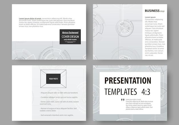 Reeks zakelijke sjablonen voor presentatiedia's.