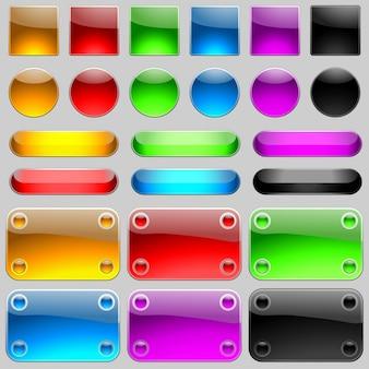 Reflecterende plaques pictogrammen en knoppen