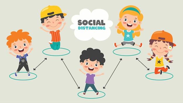 Regels voor sociale afstand voor kinderen