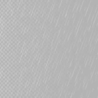 Regen druppels op transparante achtergrond. vallende waterdruppels. regenval in de natuur.