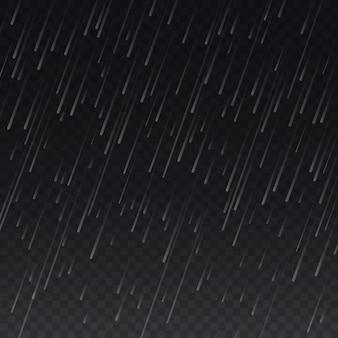Regen op transparante geruite achtergrond