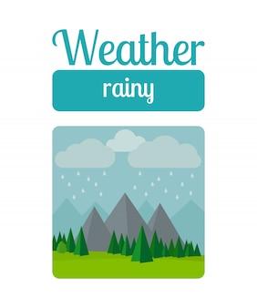 Regenachtige weerillustratie