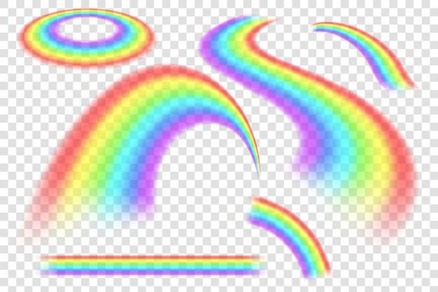 Regenbogen in verschillende spectrumvorm.