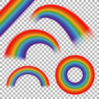 Regenbogen ingesteld op transparante plaid