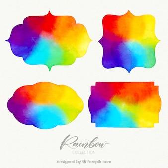 Regenbogen verzamelen in verschillende vormen